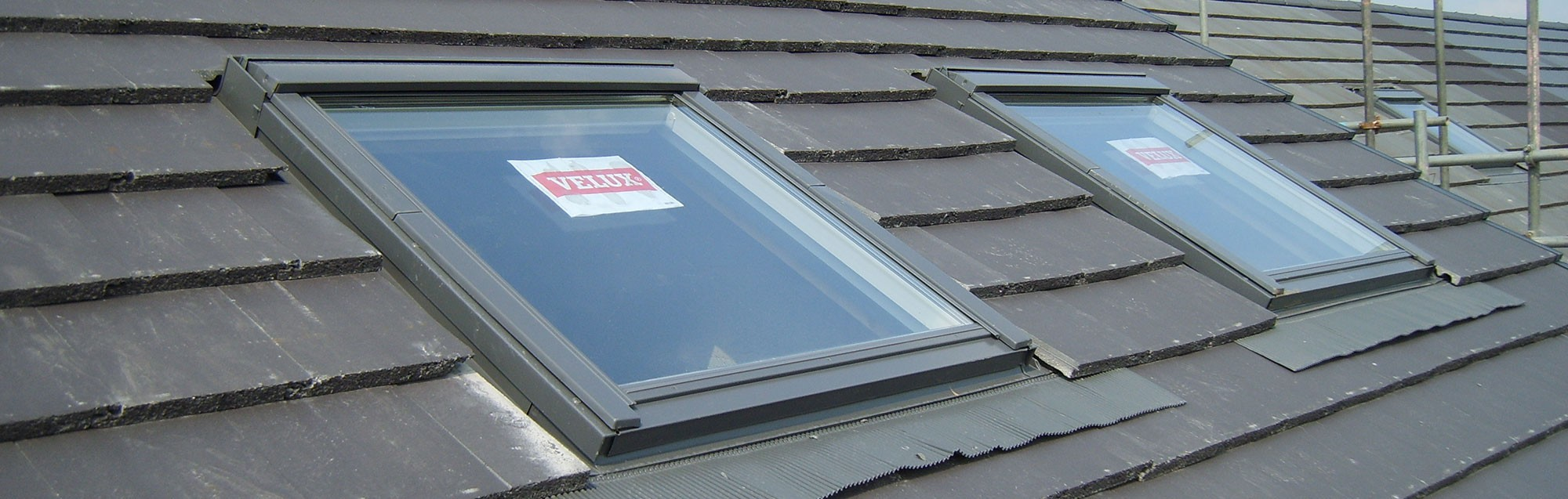 Velux windows in slate roof